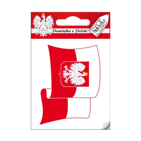 Polish Decal, Eagle on Flag – Small