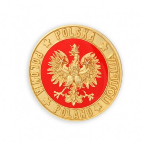 Polish Eagle Pin, Round