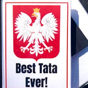 Polish Acrylic Magnet – Tata (Dad)