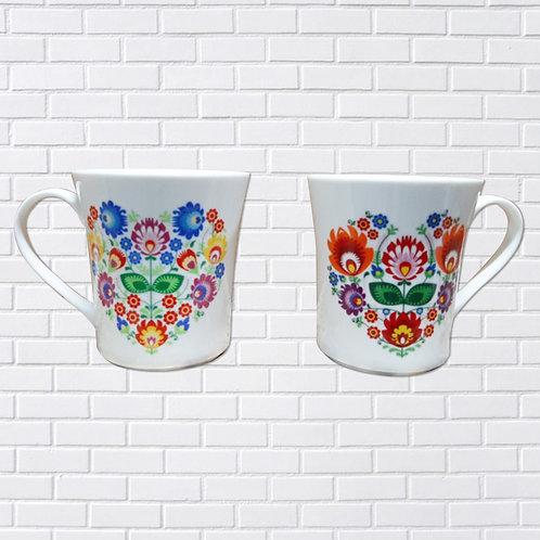 Polish Mug, Folk Art Heart