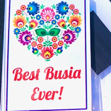 Polish Acrylic Magnet - Best Busia Ever