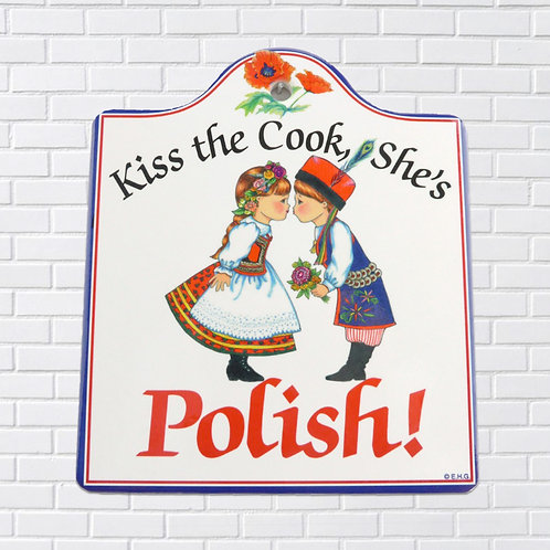 Polish Trivet, Kiss the Cook, She's Polish