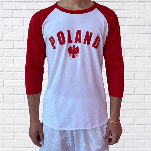 Polish Eagle Baseball Jersey, Blue or Red