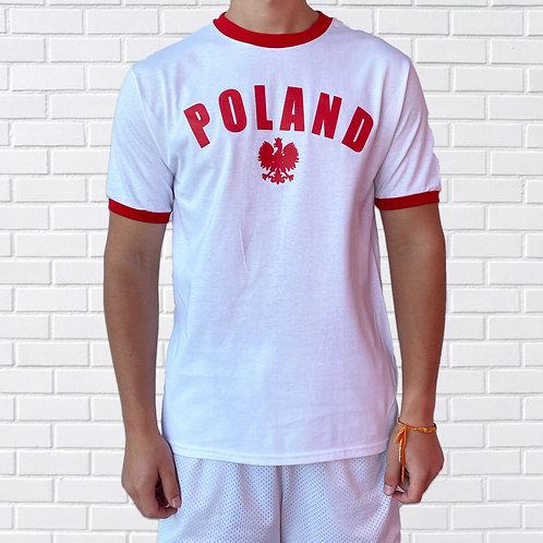 Polish Eagle T-Shirt, Poland Over Eagle – White or Grey