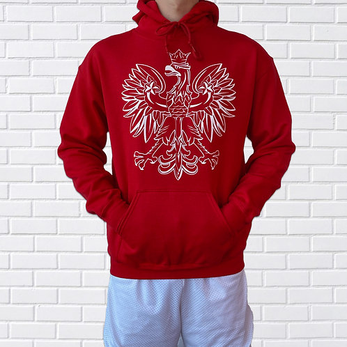 Polish Eagle Hoodie, Black or Red