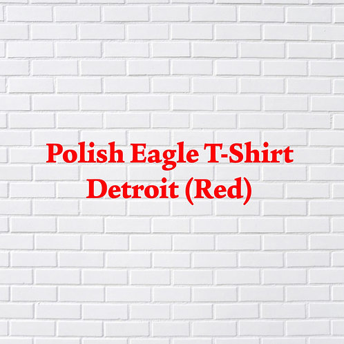 Polish Eagle T-Shirt Detroit (Red)