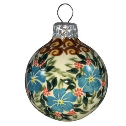 Polish Pottery Ball Ornament, Style 1