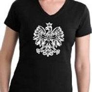 Polish Eagle Ladies T-Shirt, Black or Red