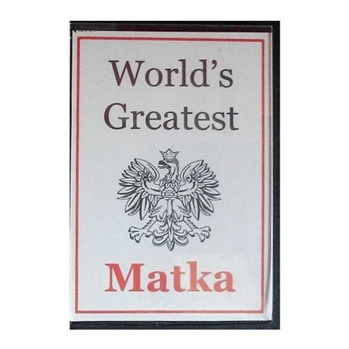 Polish Acrylic Magnet – Matka