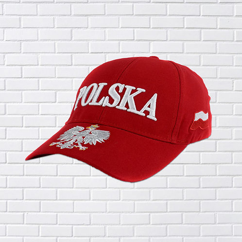 Polish Baseball Hat, Polska Eagle, Red or White