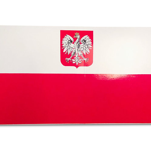 Polish, Decal – Red & White