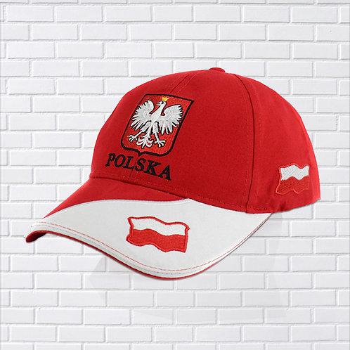 Polska Eagle Flag Hat, Red & White