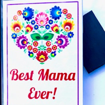 Polish Acrylic Magnet – Best Mama Ever