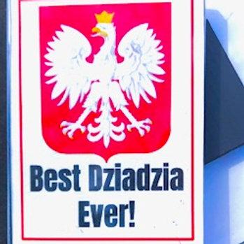 Polish Acrylic Magnet – Dziadzia (Grandpa)
