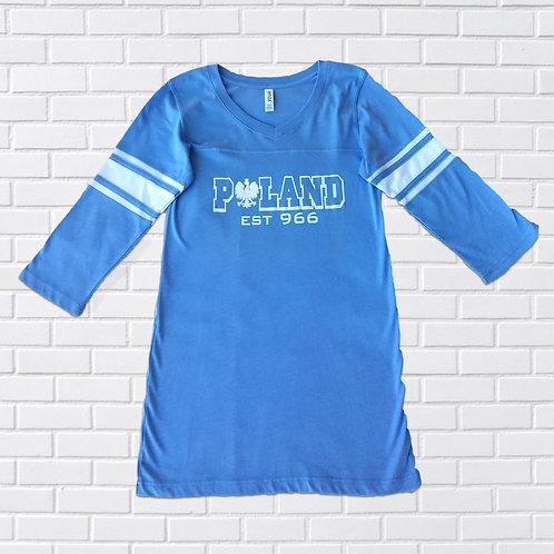 Polish Eagle T-Shirt, Women's Football, Assorted Colors