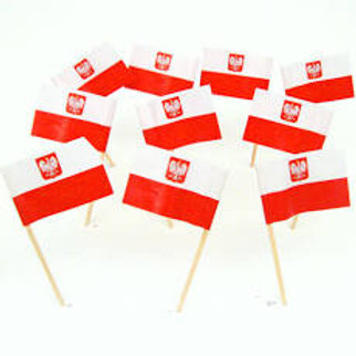 Poland Flag Kielbasa Picks 100/pkg