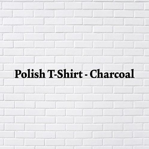 Polish T-Shirt, Charcoal