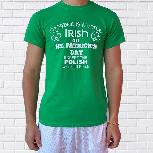 Polish T-Shirt, St. Patrick's Day, Green