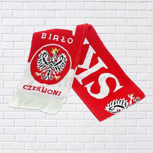 """Polish Scarf, """"Biało Czerwoni"""", Red & White"""