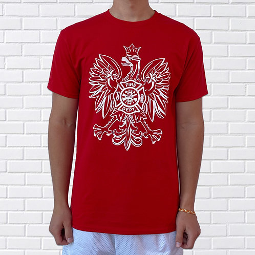 Polish T-Shirt, Firefighter, Blue or Red