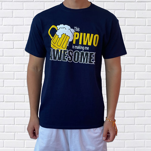 Polish T-Shirt, This Piwo is Making Me Awesome
