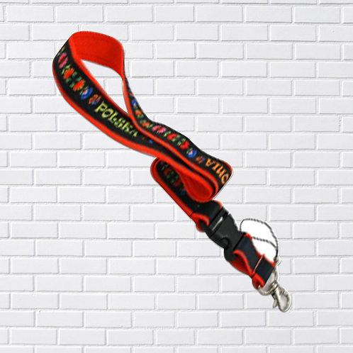 Polish Lanyard, Folk Art, Black & Red