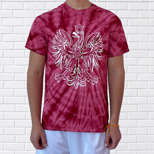 Polish T-Shirt, Eagle TieDye, Black, Red or Rainbow