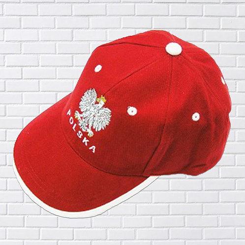 Polska Eagle Red With White Trim Hat