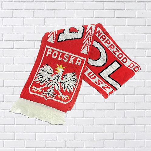 "Polish Scarf, ""Forward to Victory"" & ""Always Faithful"", Red & White"