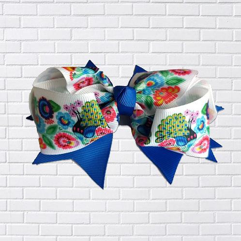 Polish Hair-Bow, Folk Art, Blue