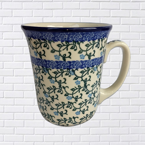 Polish Ceramic Mug, Blue Vines