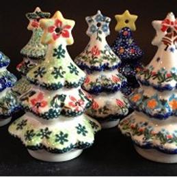Polish Pottery Tree Ornament