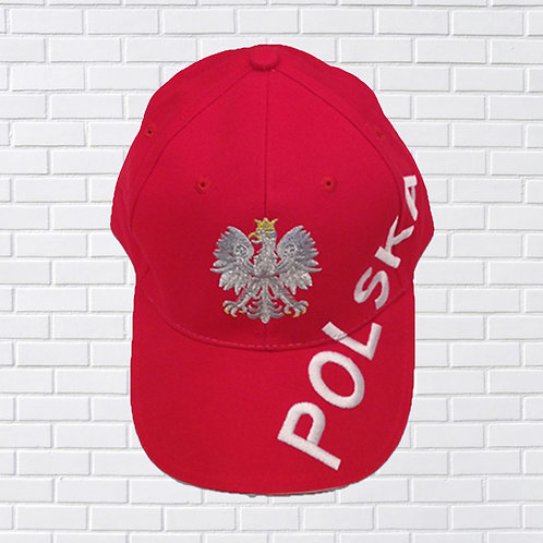 Polish Baseball Cap, 118 Red Angle