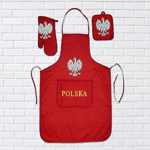Polish Apron Set, Red