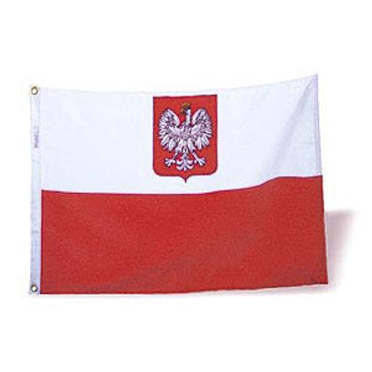 Large Poland Flag 2 ft. x 3 ft. / Light Duty
