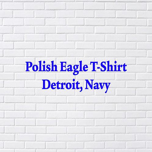 Polish Eagle T-Shirt, Detroit, Navy