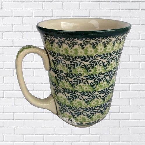 Polish Ceramic Mug, Green & Blue