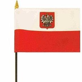Mini Poland Flag 4 in. x 6 in.