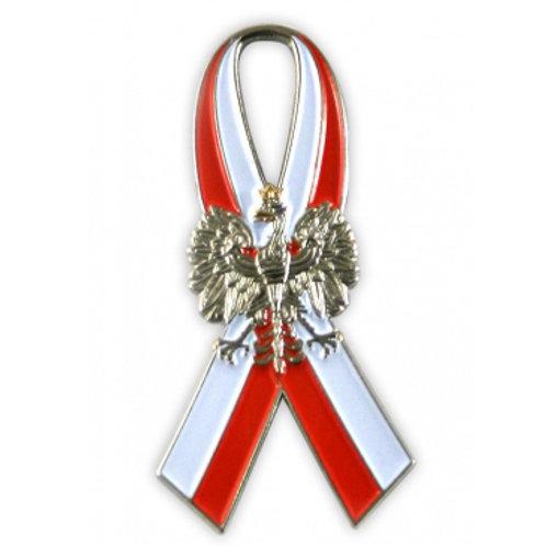 Ribbon with Polish Eagle Pin