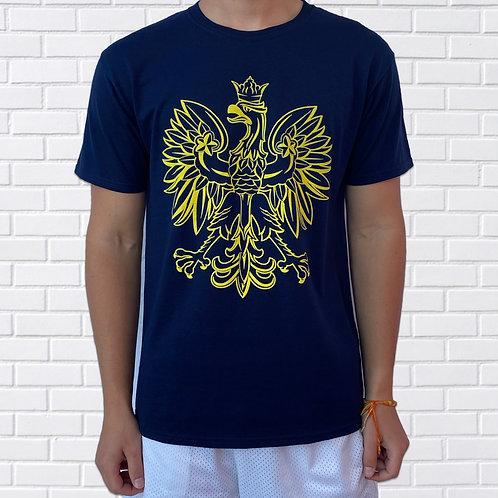 Polish Eagle T-Shirt, Blue & Maize