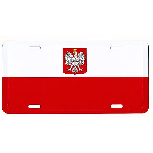 Polish Eagle License Plate Poland