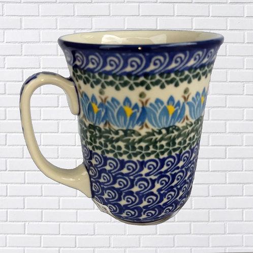 Polish Ceramic Mug, Blue & Yellow
