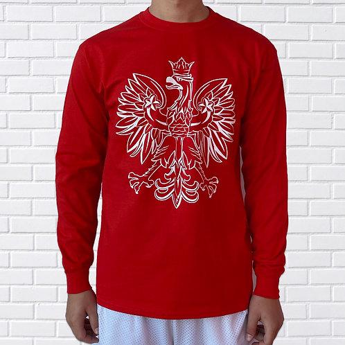 Polish Eagle T-Shirt, Long Sleeve, Black or Red