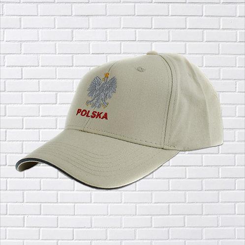 Polish Baseball Hat, Polska Eagle, Beige