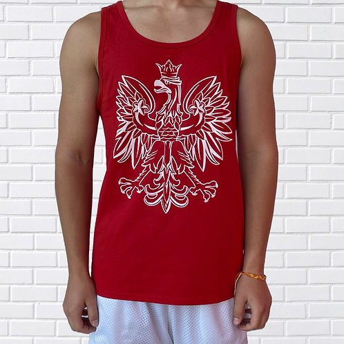 Polish Eagle Tank Top, Sleeveless, Black or Red
