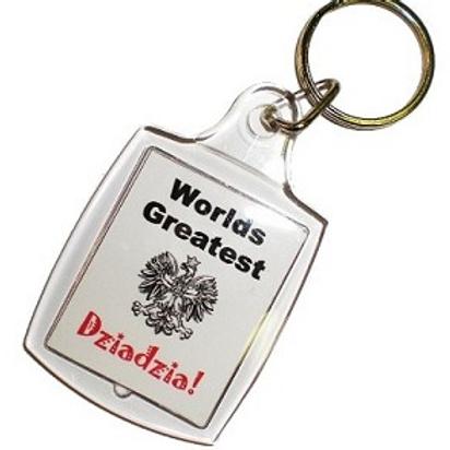 Polish Keychain, Worlds Greatest Dziadzia (Grandpa)