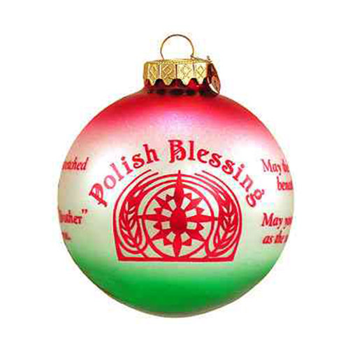 Polish Blessing Red & Green Ornament