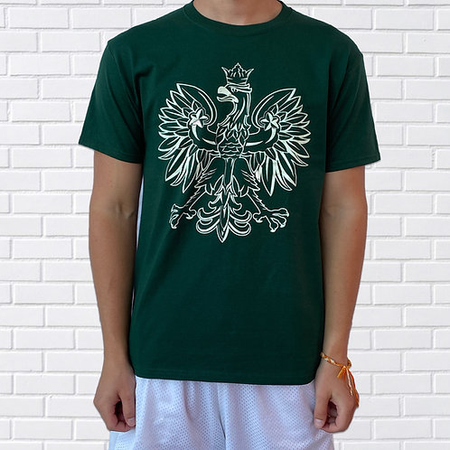 Polish Eagle T-Shirt, Green & White
