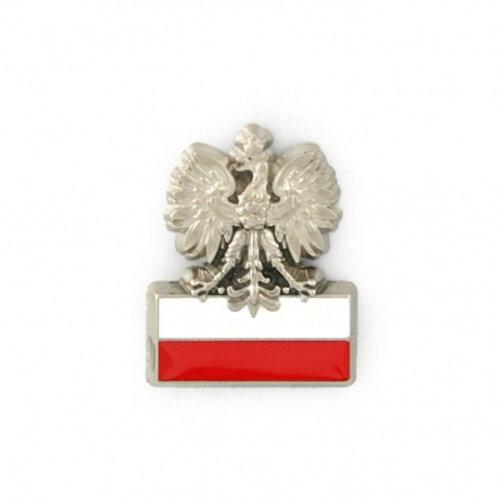 Polish Eagle Flag Pin