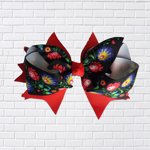 Polish Hair-Bow, Folk Art, Black